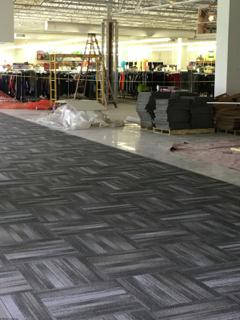 Carpet tiles in Retail Sales area
