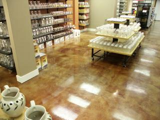 Epoxy in Retail Sales area High Gloss