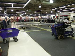 Flooring Removal in a Retail Sales area